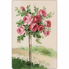 Bohemia Gifts - ručně parfémovaná aromatická karta - růže