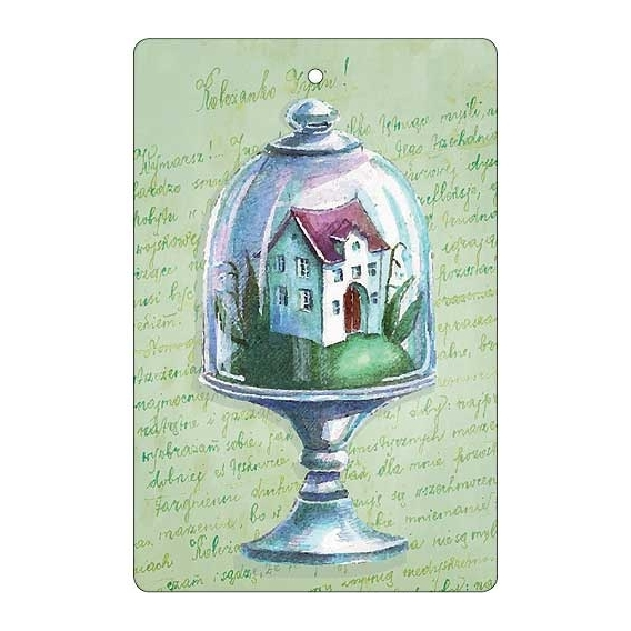 Bohemia Gifts - ručně parfémovaná aromatická karta - domek