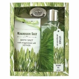 Magneziová kosmetika - sprchový gel a sůl – vetiver