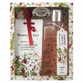 Magneziová kosmetika - sprchový gel a sůl – brusinky a čaj