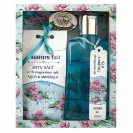 Magneziová kosmetika - sprchový gel a sůl - aqua a minerály