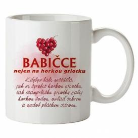 Bohemia Darčeky - keramický hrnček 350 ml - babička