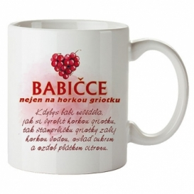 Bohemia Gifts - keramický hrnek 350 ml - babičce