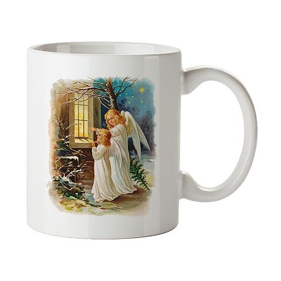 Bohemia Dary - vianočný keramický hrnček 350 ml - anjeli
