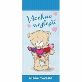 Bohemia Gifts - dárková mléčná čokoláda 100 g - všechno nejlepší