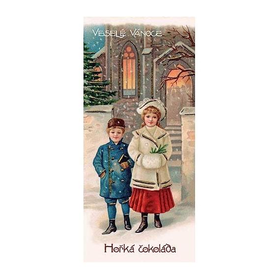 Bohemia Darčeky - vianočné horkej čokolády 100 g - Veselé Vianoce