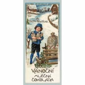 Bohemia Darčeky - vianočné čokolády, 10 g - chlapec v modrej