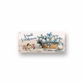 Bohemia Darčeky - mliečne čokolády, 10 g - Veľkonočný košík s vajíčkami