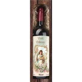 Bohemia Gifts - velikonoční červené víno 0,75 l - Veselé Velikonoce