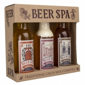 Beer Spa premium pivní kosmetika – sada gel, šampon a pěna