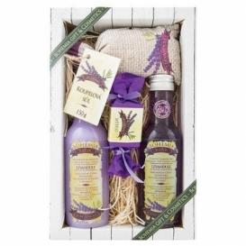 Kosmetika levandule - dárkové balení - gel + šampon + mýdlo + koupelová sůl