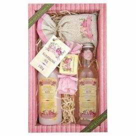 Bohemia Natur - dárkové balení kosmetika růže - gel + šampon + mýdlo + sůl