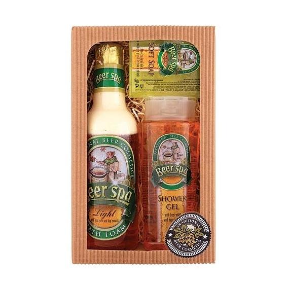 Darčekové balenie BEER SPA - sprchový gél 250 ml, pena do kúpeľa 500 ml, mydlo 70 g
