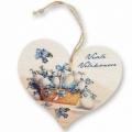 Bohemia Darčeky - drevené srdce 13 cm - Veľkonočné vajíčka