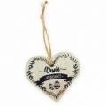 Bohemia Darčeky - drevené srdce 7,5 cm - veselú veľkú noc