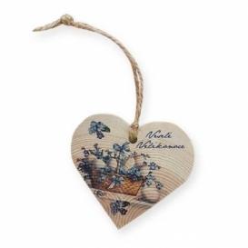 Bohemia Darčeky - drevené srdce 7,5 cm – Veľkonočné vajíčka