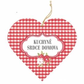 Bohemia Gifts – dekorační dřevěné srdce 13 cm – kuchyně