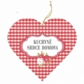 Bohemia Darčeky – dekoratívne drevené srdce 13 cm – kuchyňa