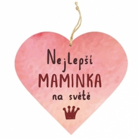 Bohemia Gifts – dekorační dřevěné srdce 13 cm – maminka