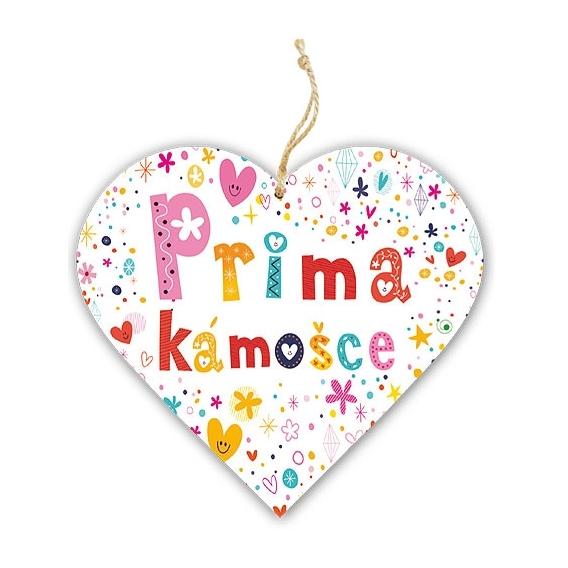 Bohemia Darčeky – dekoratívne drevené srdce 13 cm priateľovi