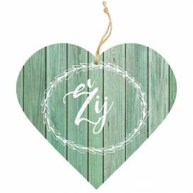 Bohemia Gifts – dekorační dřevěné srdce 13 cm – žij
