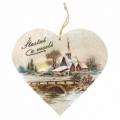 Bohemia Darčeky – dekorácie drevené srdce 13 cm – Vianočné cirkvi