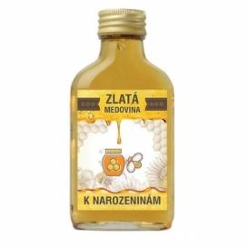 Bohemia Gifts - zlatá medovina 100 ml - k narozeninám