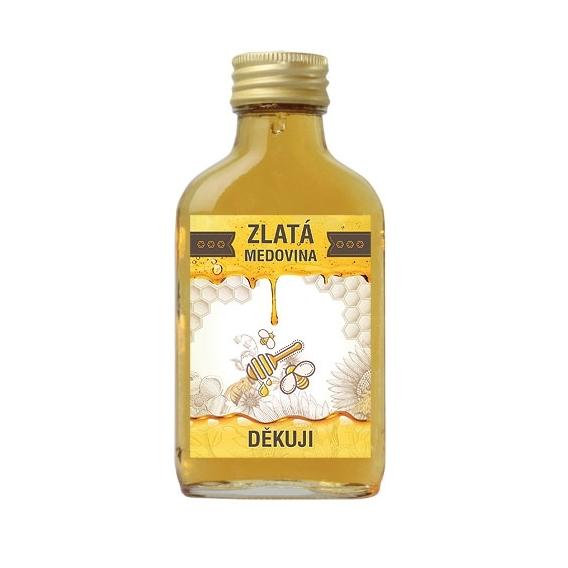 Bohemia Darčeky - zlaté medovina 100 ml - ďakujem