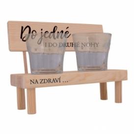 Dřevěný stojánek se skleničkami - do jedné i do druhé nohy