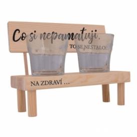 Dřevěný stojánek se skleničkami - co si nepamatuji ...