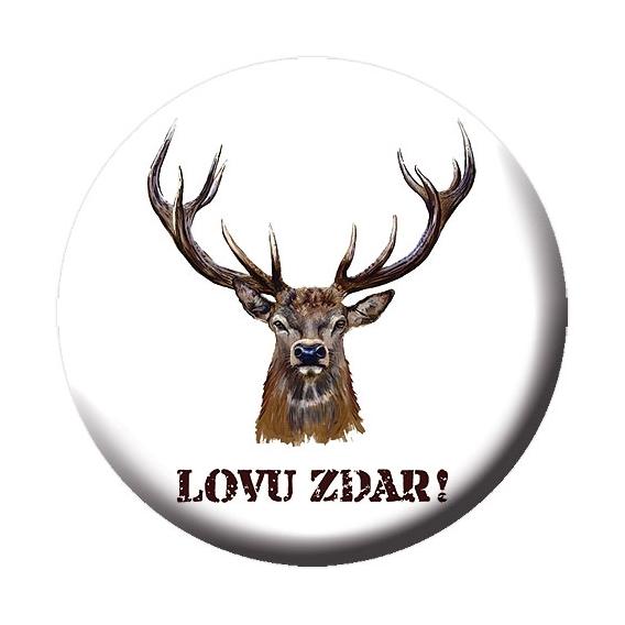 Odznak s otváračom a magnetom pre poľovníkov