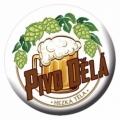 Tlačidlo odznak s otvárač - pivo robí pekné telo
