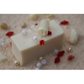 Glycerínové mydlo Biely čaj, krájané