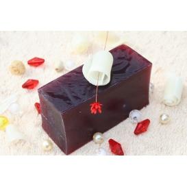 Glycerínové mydlo Hrozno tmavé, krájané