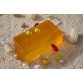 Glycerínové mydlo Litsea cubeba s osviežujúcou citrusovou vôňou, krájané