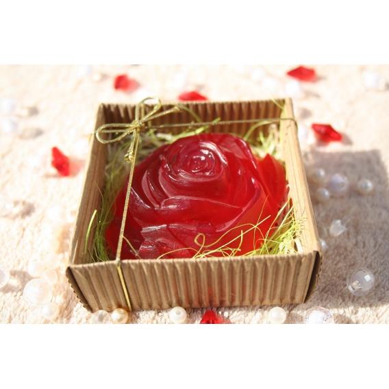 Glycerínové mydlo RUŽA-čučoriedka v krabičke