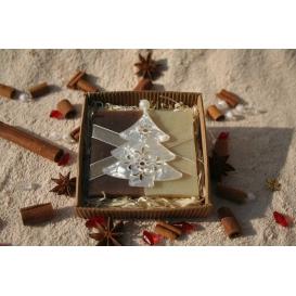 Olivové mydlá Natural a Škorica s vianočným stromčekom