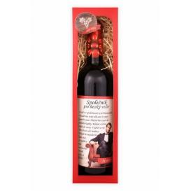 Darčekové víno červené - merlot - Spoločník pre pekný večer 750 ml