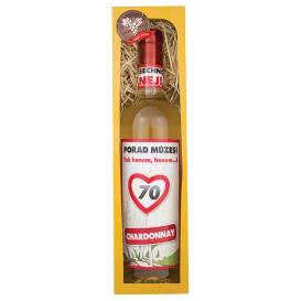 Darčekové biele víno 750 ml - Chardonnay- Všetko naj 70