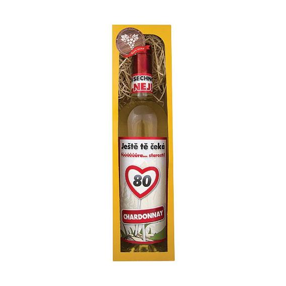 Darčekové víno víno 750 ml - Chardonnay- Všetko naj 80