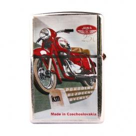 Retro zapaľovač - motorka červená BZ5
