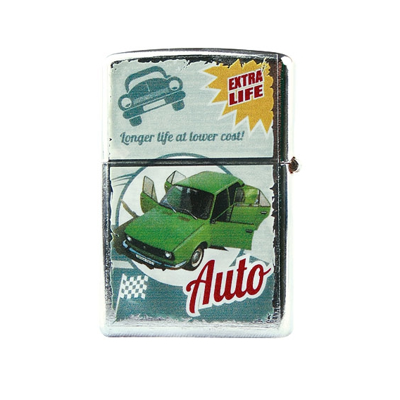 Retro zapaľovač - zelené auto BZ1