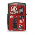 Retro zapaľovač - gas station BZ2