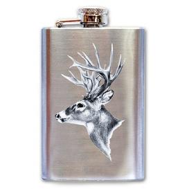 Nerezová ploskačka na alkohol pre poľovníka - Jeleň
