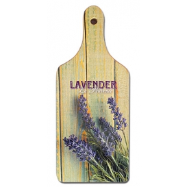 Dekoračný lopárik s potlačou - Lavender biely