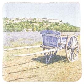 Dekoračná kachlička - Povoz a pole