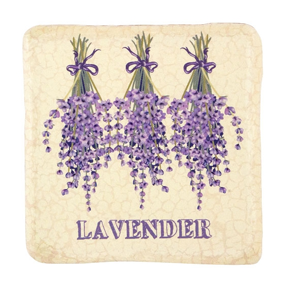 Dekoračná kachlička - Lavender zavesené kvety