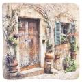 Dekoračná kachlička - Dvere starého domu