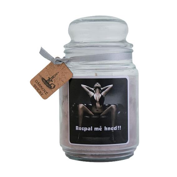 Darčeková sviečka - Rozpáľ ma hneď 510 g