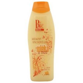 Krémový sprchový gél 500 ml - Mlieko a med